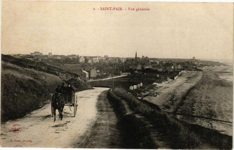 Carte postale ancienne Saint-Pair - Vue générale à Saint-Pair