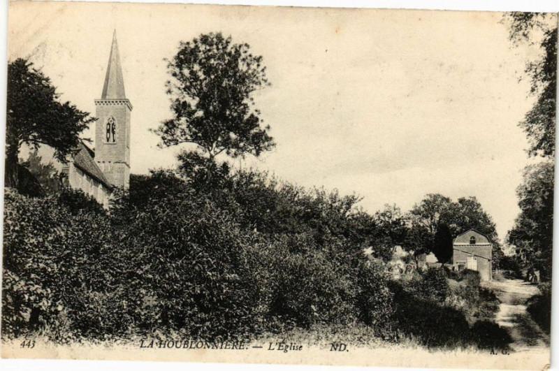 Carte postale ancienne La Houblonniere - L'Eglise à La Houblonnière
