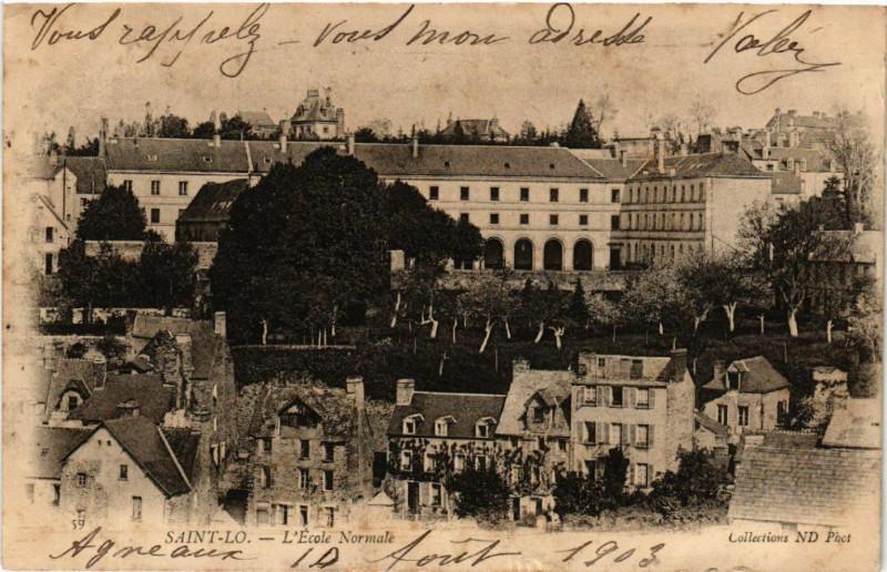 Carte postale ancienne Saint-Lo - L'Ecole Normale à Saint-Lô