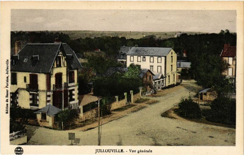 Carte postale ancienne Jullouville - Vue générale à Jullouville
