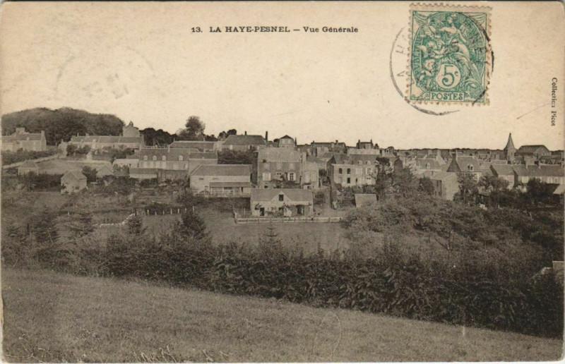 Carte postale ancienne La Haye-Pesnel - Vue générale à La Haye-Pesnel