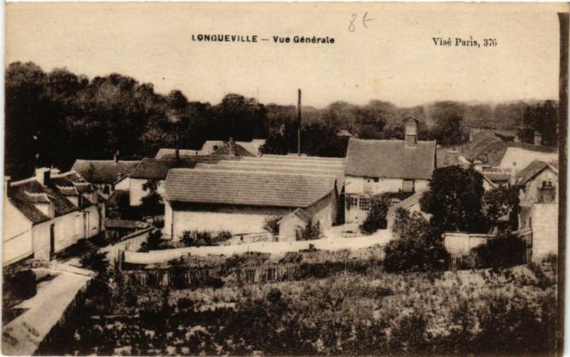 Carte postale ancienne Longueville - Vue Générale à Longueville