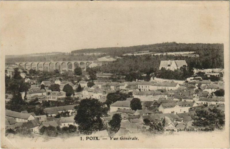 Carte postale ancienne Poix Vue Generale à Poix