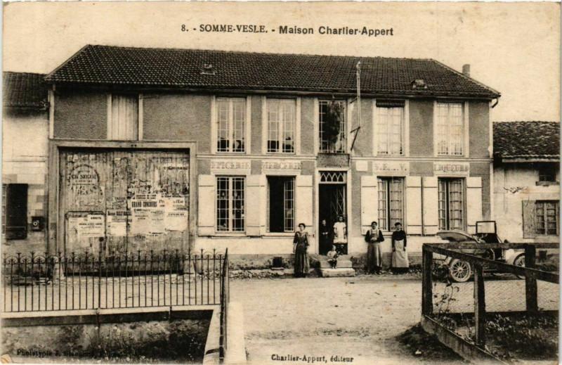 Carte postale ancienne Somme-Vesle Maison Charlier-Appert à Somme-Vesle