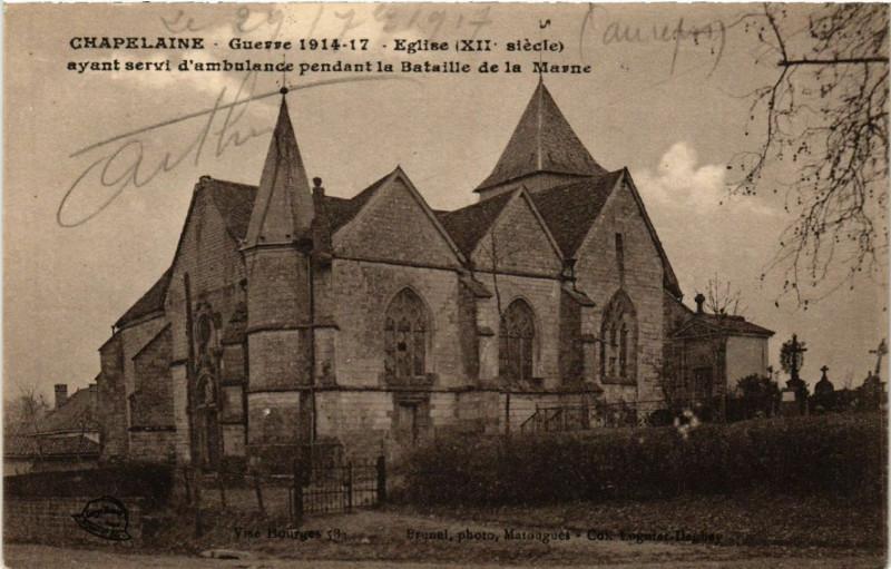 Carte postale ancienne Chapelaine Eglise à Chapelaine