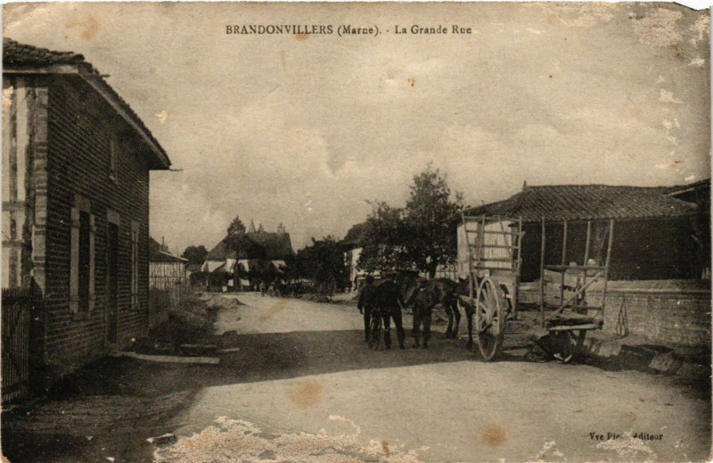 Carte postale ancienne Brandonvillers -la-Grande Rue à Brandonvillers