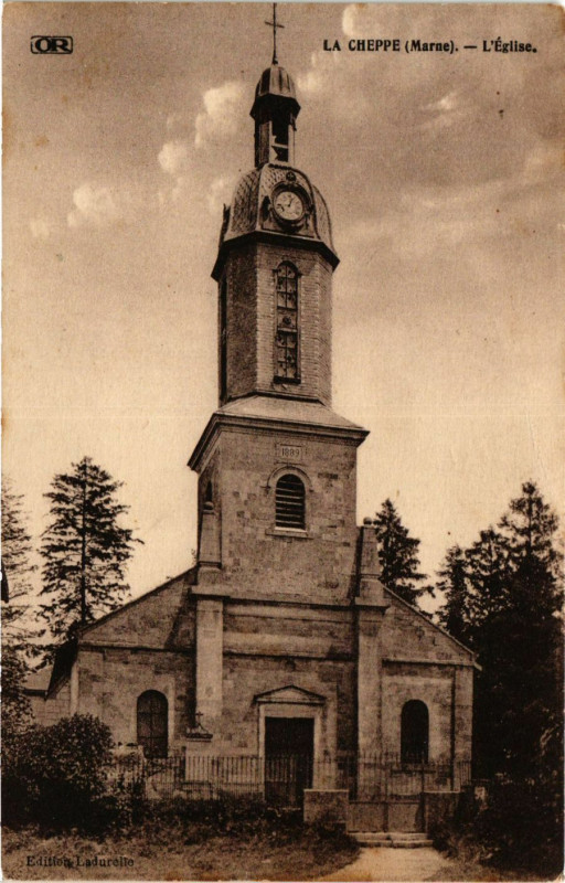 Carte postale ancienne La Cheppe - L'Eglise à La Cheppe