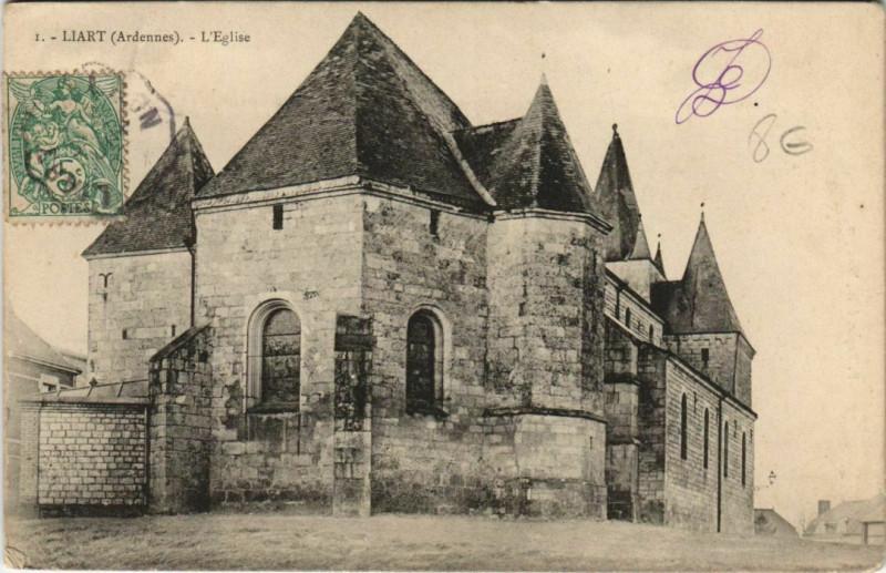 Carte postale ancienne Liart - L'Eglise à Liart