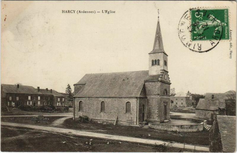 Carte postale ancienne Harcy - L'Eglise à Harcy