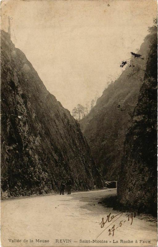 Carte postale ancienne RevinSaint-Nicolas La Roche a Faux à Faux