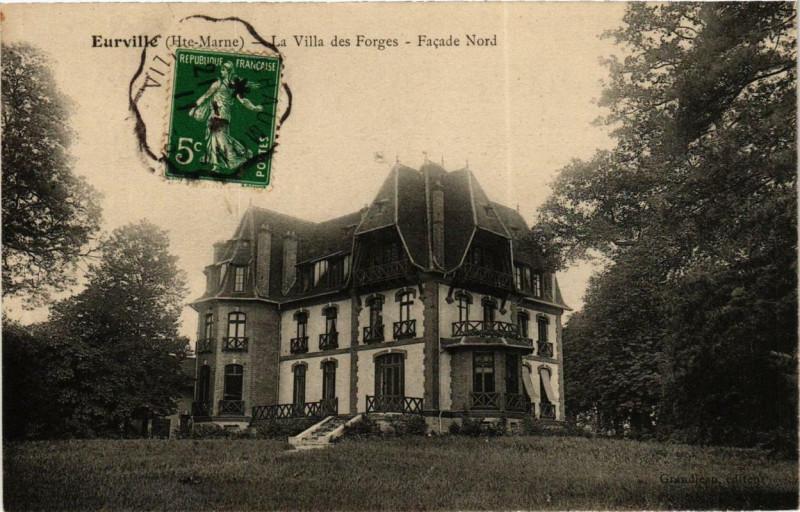 Carte postale ancienne Eurville La Villa des Forges - Facade Nord à Orges