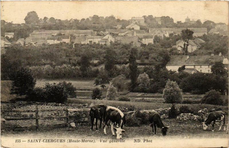 Carte postale ancienne Saint-Ciergues Vue générale à Saint-Ciergues