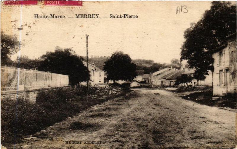Carte postale ancienne Haute-Marne Merrey Saint-Pierre à Merrey