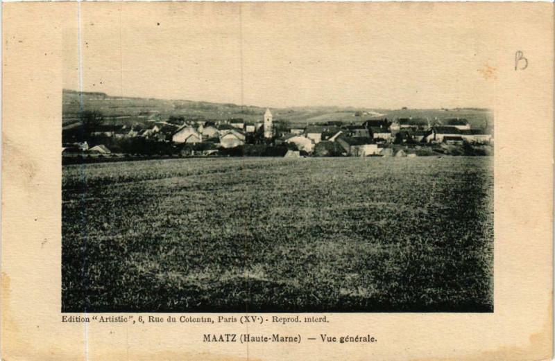 Carte postale ancienne Maatz Vue générale à Maâtz