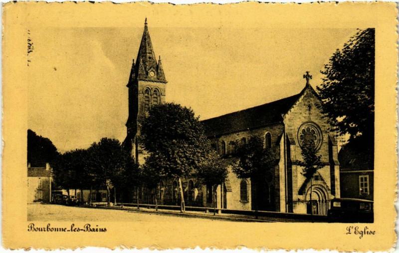 Carte postale ancienne Bourgonne-les-Bains - L'Eglise à Bourg