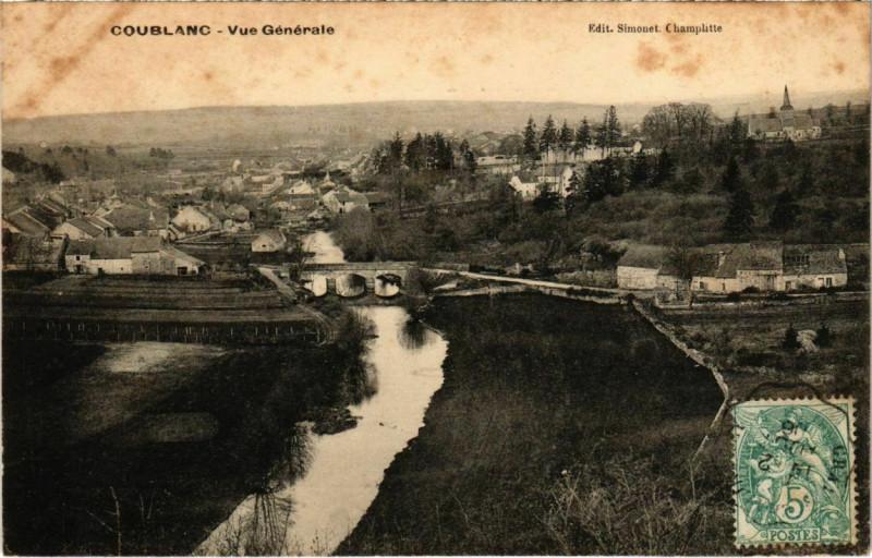 Carte postale ancienne Coublanc - Vue générale à Coublanc