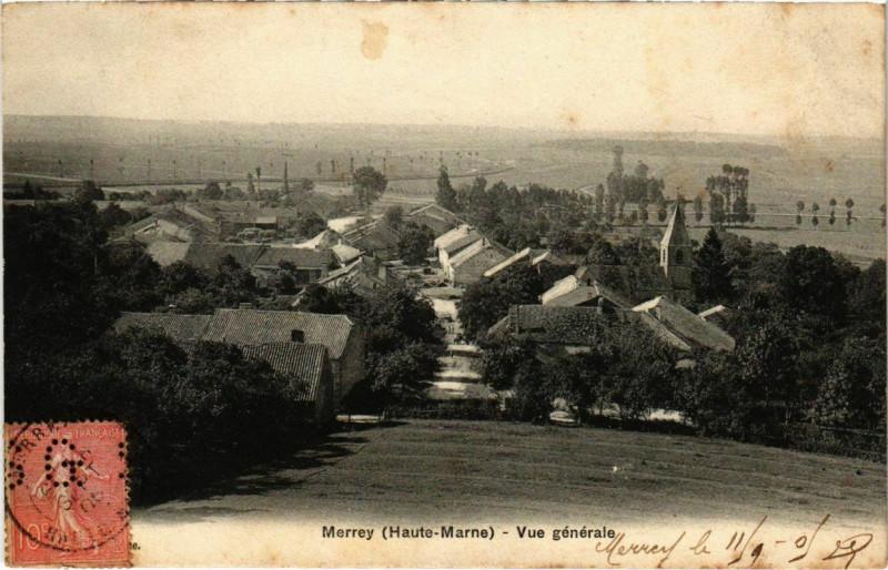 Carte postale ancienne Merrey - Vue générale à Merrey