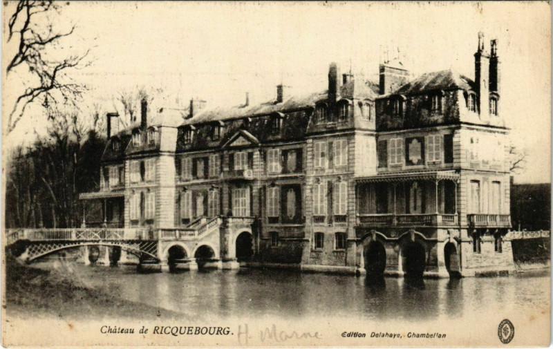 Carte postale ancienne Chateau de RicqueBOURG à Bourg
