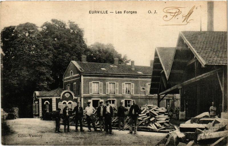 Carte postale ancienne Eurville - Les Forges à Orges