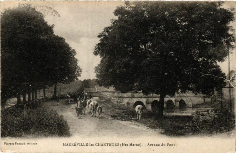 Carte postale ancienne Harreville les Chanteurs - Avenue du Pont à Harréville-les-Chanteurs