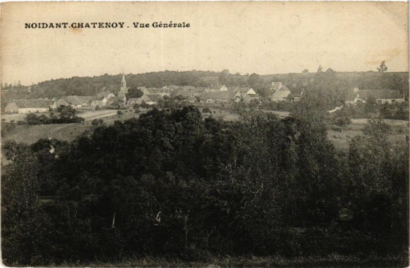 Carte postale ancienne Noidant Chatenoy - Vue generale à Noidant-Chatenoy