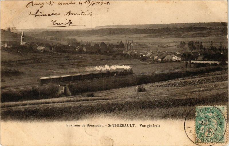 Carte postale ancienne Saint-Thiebault - Vue generale à Saint-Thiébault