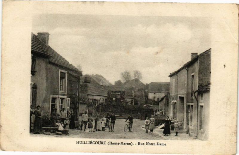 Carte postale ancienne Huilliecourt - Rue Notre-Dame à Huilliécourt