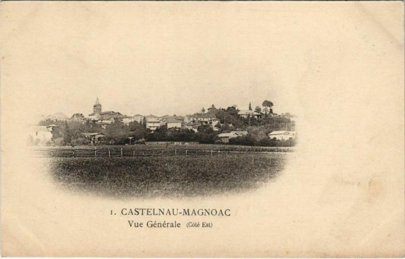 Carte postale ancienne Castelnau-Magnoac Vue Generale à Castelnau-Magnoac