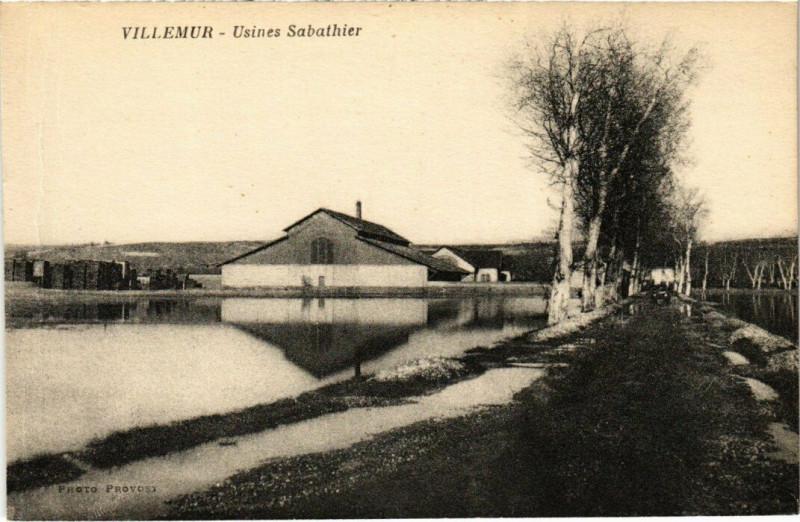 Carte postale ancienne Villemur - Usines Sabathier à Villemur