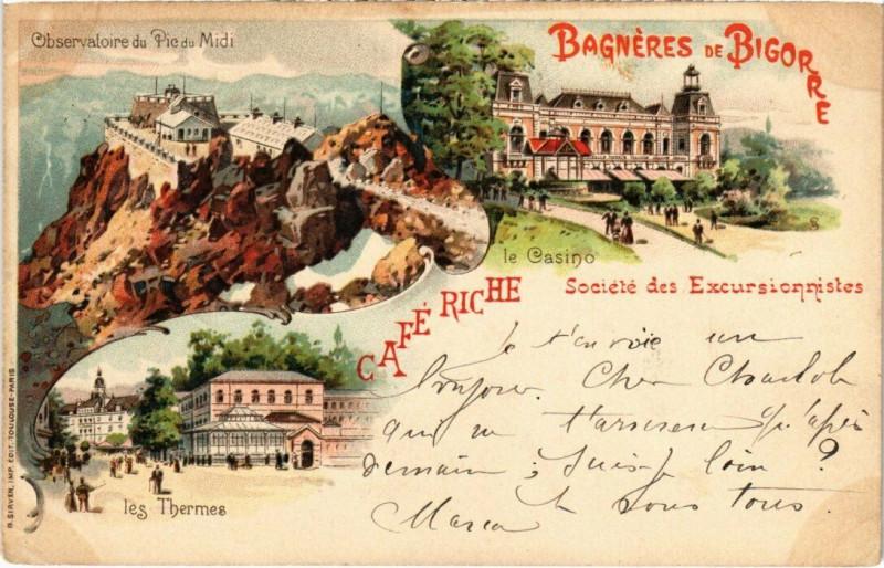 Carte postale ancienne Litho Bagneres-de-Bigorre - Souvenir à Bagnères-de-Bigorre