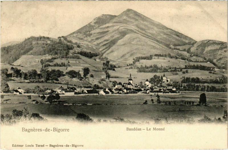 Carte postale ancienne Bagneres-de-Bigorre - Baudéan - Le Monné à Bagnères-de-Bigorre