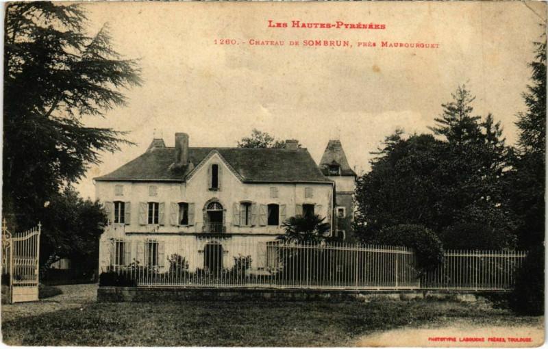 Carte postale ancienne Chateau de Sombrun, prés Maubourguet à Maubourguet