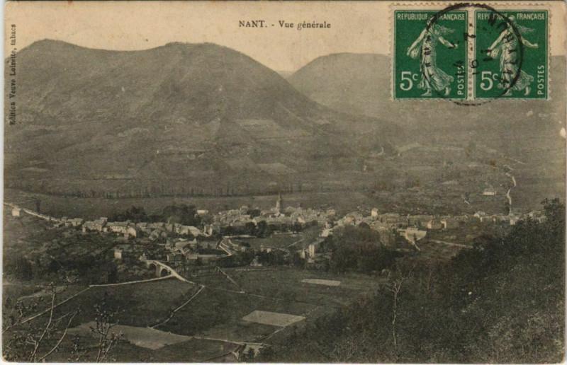 Carte postale ancienne Nant - Vue générale à Nant