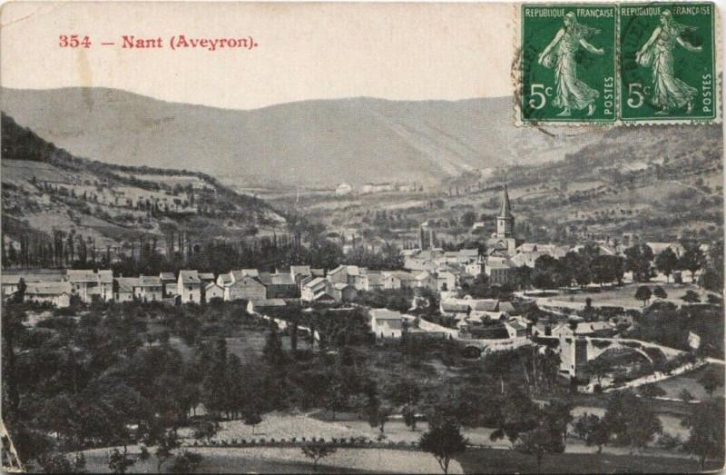 Carte postale ancienne Nant à Nant