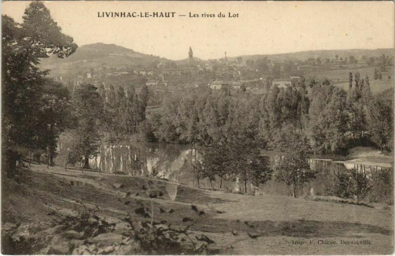 Carte postale ancienne Livinhac-Le-Haut - Les rives du Lot à Livinhac-le-Haut