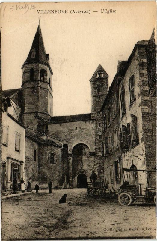 Carte postale ancienne Villeneuve - L'Eglise à Villeneuve