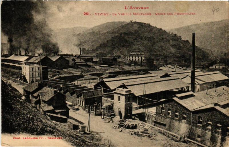 Carte postale ancienne Viviez- La Vieille Montagne à Viviez