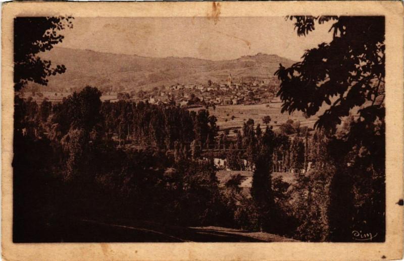 Carte postale ancienne Livinhac le Haut - Vue générale à Livinhac-le-Haut