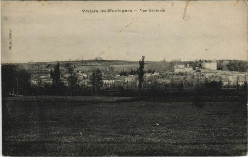Carte postale ancienne Viviers-les-Montagnes Vue Generale à Viviers-lès-Montagnes