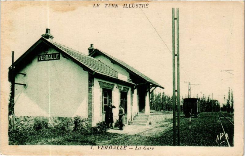 Carte postale ancienne Verdalle - La Gare à Verdalle