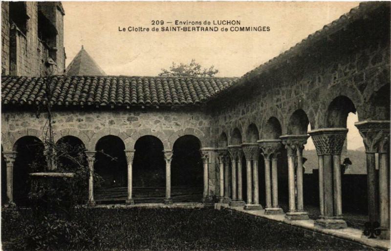 Carte postale ancienne Env. de Luchon Le Cloitre de Saint-Bertrand de Comminges à Saint-Bertrand-de-Comminges