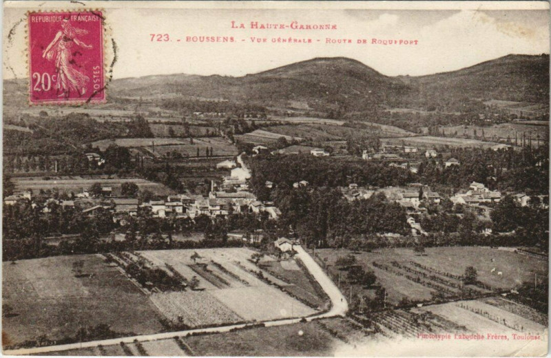 Carte postale ancienne Boussens - Vue Générale à Boussens