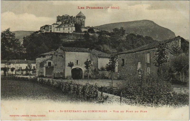Carte postale ancienne Saint-Bertrand-de-Comminges - Vue du pont du Plan à Saint-Bertrand-de-Comminges
