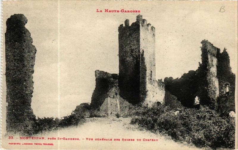 Carte postale ancienne La Haute Garonne - Montespan pres Saint-Gaudene - Vue générale des.. à Montespan