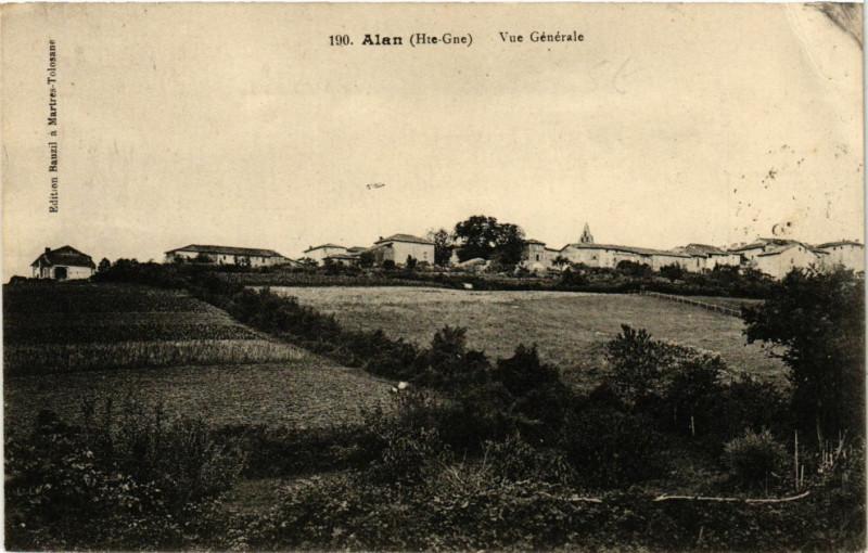 Carte postale ancienne Alan (Hte-Gne) - Vue Générale à Alan