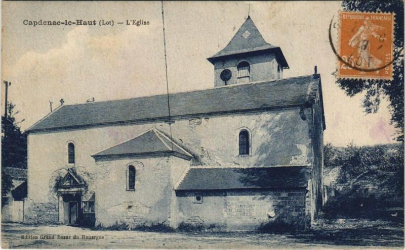 Carte postale ancienne Capdenac-le Haut - L'Eglise à Capdenac