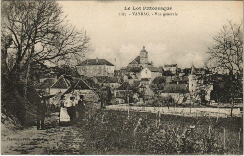 Carte postale ancienne Le Lot Pittoresque - Vayrac - Vue generale à Vayrac