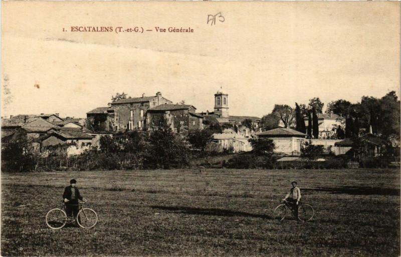 Carte postale ancienne Escatalens Vue générale à Escatalens