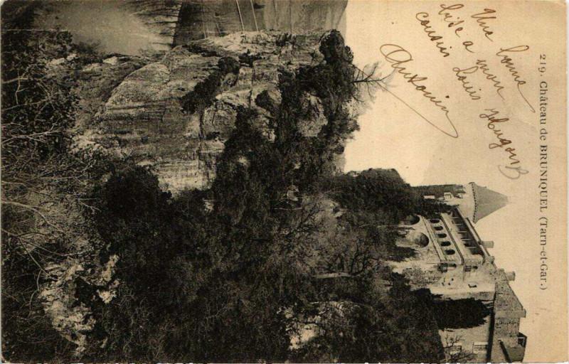 Carte postale ancienne Chateau de Bruniquel à Bruniquel