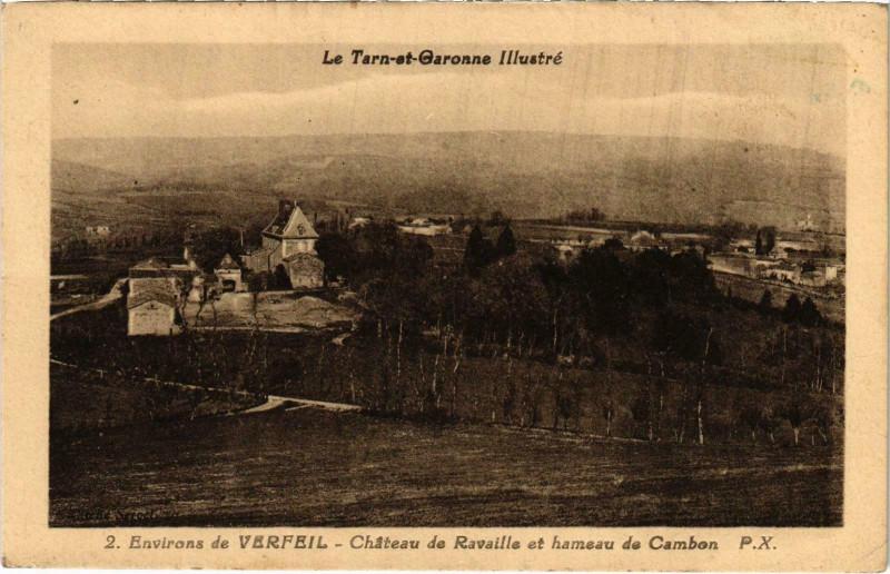 Carte postale ancienne Env. de Verfeil Chateau de Ravaille à Verfeil